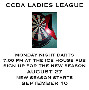 Monday Ladies CCDA Darts League