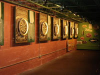 Dartboards as far as the eye can see